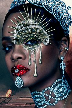 Rihanna Graces The Cover Of 'W' Magazine. Rihanna slays again with her latest W Magazine cover. Donning some highly sought after Cartier bling — and some Rihanna E, Rihanna Cover, Rihanna Crown, Rihanna Nails, Makeup Inspo, Makeup Art, Makeup Inspiration, Fairy Makeup, Mermaid Makeup