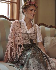 Folk Fashion, Womens Fashion, Wrap Front Top, German Women, Chiffon, Rose Cottage, Couture, Elegant, Bell Sleeves