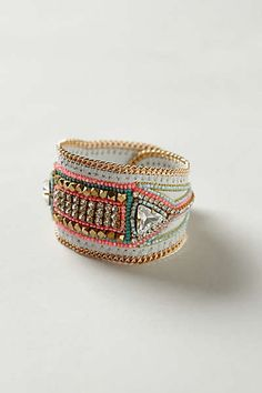 Anthropologie Carnival Beaded Cuff