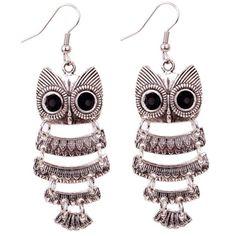 Owl dangle earrings Owl dangle earrings. Multi layer. Made of alloy. No backs included.  Jewelry Earrings