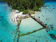 Photo by Pierre Lesage: Stone Fishing, Island of Taha'a,: French Polynesia:  Stone fishing is a centuries old, but vanishing tradition celebrated on the island of Taha'a in the French Polynesia.