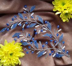 27 отметок «Нравится», 3 комментариев — Alferova Olga (@olga_alferova_wedding) в Instagram: «Васильковая веточка в причёску, сделана на заказ. Выполняется в любов цвете!…»
