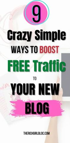 Want to know how to get free traffic to your new blog? Implement these crazy simple strategies and start getting more visitors to your blog now!