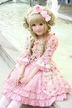 Victorian Rose Hime - 03 by IamCharon.deviantart.com on @deviantART #sweetlolita | #rococo