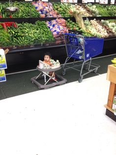 At Wal-Mart the hits just keep on coming! / A walker and parentless ~ somebody needs a beating