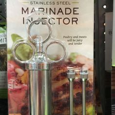 This cool tool injects flavor into your steaks, chicken, turkey, fish or any other type of meat you may be grilling in your backyard. Just fill it with things like balsamic vinegar, lime with ginger or steak sauce. It's clog resistant too.