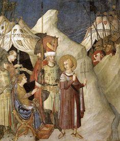 Simone Martini, St Martin renounces his weapons, St Martin Chapel, Lower Church, Assisi, c.1320s