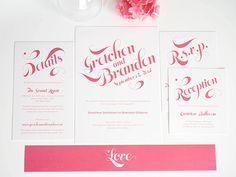 Pink Wedding Invitation  Delightful Script by shineinvitations, $6.50