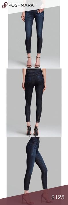 "[rag&bone/JEAN] Justine Zipper Skinny in Anfield Pre-loved and in beautiful condition (worn ~5 times). Open to offers!  🌟Description from Bloomingdale's: Back ankle zips and a love-worn, dark wash steps rag & bone/JEAN's cropped skinnies into the next level of cool.  Zip fly with button closure, five-pocket silhouette Tonal stitching, silver-tone hardware, whiskered front, zip ankles at back 7"" rise, 29"" inseam, 10"" leg opening Cotton/polyurethane Machine wash Made in USA rag & bone Jeans…"