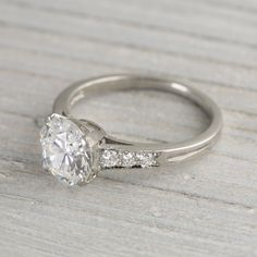 TTTiffany Vintage Engagement Ring from Tiffany Co Bottom image