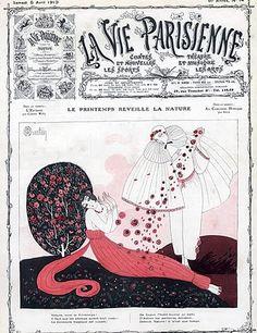 Charles Martin 1913 Pierrot & Colombine Art Deco Style Fashion Costume