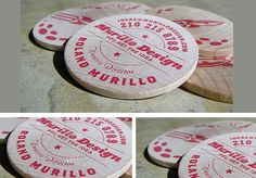 Love the idea of a business card NOT out of paper! Awesome! Could do a classic shape that fits Hacienda Chic!