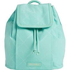 Vera Bradley Women's Preppy Poly Backpack Mint Backpack
