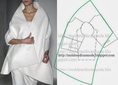 This Pin was discovered by Mor Diy Clothing, Sewing Clothes, Clothing Patterns, Dress Patterns, Sewing Patterns, Pattern Cutting, Pattern Making, Modelista, Diy Couture