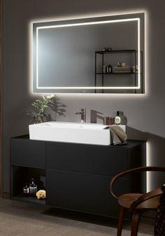 Customer Behaviour, 1 Tap, Vanity Units, Towel Rail, Bathroom Furniture, Basin, Mirror, Home Decor, Black