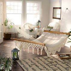 macrame hammock Hayneedle.com The DIY Homegirl Coastal Bohemian Bedroom Mood Board