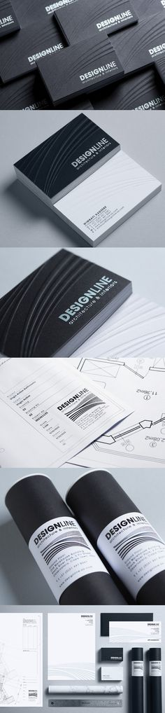 Design line Architecture & Interiors Corporate Stationary, Business Cards, Letterheads, foiling and embossing. Business Card Logo, Business Card Design, Graphic Design Studios, Logo Design, Architecture Business Cards, Corporate Stationary, Architecture Interiors, Letterhead, Packaging Design