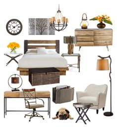 """""""Bronze and Wood Bedroom"""" by silverlime2013 on Polyvore featuring interior, interiors, interior design, home, home decor, interior decorating, Home Decorators Collection, Baxton Studio, Powell Furniture and Kenroy Home"""
