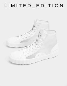 4b5a8e2e0 Men's perforated sneakers - Shoes - Bershka United States Shoes Sneakers, High  Top Sneakers,