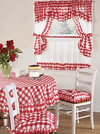 Best 11 Brighten your kitchen with a gorgeous set of kitchen curtains from Blair! Shop embroidered kitchen curtains as well as coordinates to – Page 552465079289317450 – SkillOfKing. Kitchen Curtain Sets, Kitchen Curtains, Furniture Covers, Chair Covers, Kitchen Table Chairs, Shabby Chic Living Room, Curtain Designs, Window Coverings, Room Decor