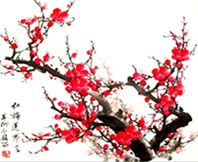 Japanese Drawings, Japanese Tattoo Art, Japanese Art, Cherry Blossom Drawing, Red Cherry Blossom, Korean Painting, Chinese Painting, Japan Painting, Ink Painting