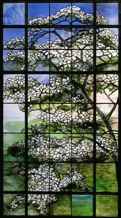 Louis Comfort Tiffany (1848-1933)  Dogwood, ca. 1900-15 by tammie