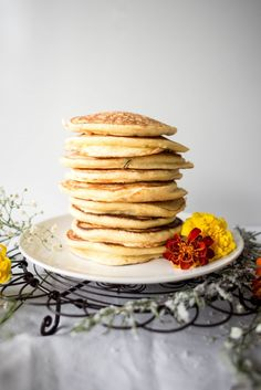 Orange Blossom, Rosemary and Ricotta Hotcakes