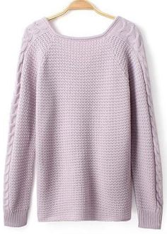 Sweet Long Sleeve Woman Sweaters with Round Neck