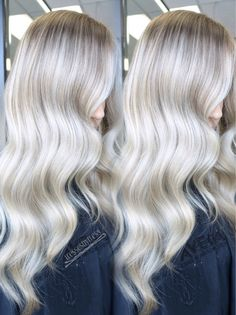 Platinum balayage ombré blonde hair в 2019 г. Platinum Blonde Balayage, Balayage Blond, Blond Ombre, Beige Blonde, Fall Blonde Hair Color, Blonde Hair Looks, Peinados Pin Up, Hair Inspiration, Cool Hairstyles