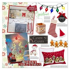Colorful Christmas by szaboesz on Polyvore featuring interior, interiors, interior design, home, home decor, interior decorating, Crate and Barrel, Sixtrees, Sage & Co. and Harrods