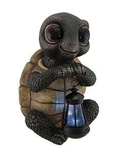 Zeckos Twilight Turtle Garden Statue and Solar LED Lantern for sale online Outdoor Statues, Garden Statues, Baby Animals, Cute Animals, Turtle Figurines, Cute Turtles, Sea Turtles, Turtle Love, Tiny Turtle