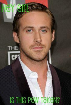 Catholic Ryan Gosling?!  Too funny
