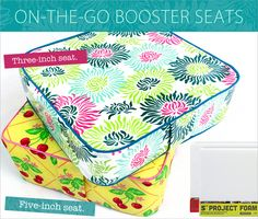 On-The-Go Booster Seat with Carry Handle | Sew4Home