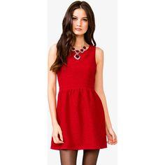 FOREVER 21 A-Line Mattelassé Dress ($23) ❤ liked on Polyvore