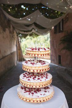 Italian Millefoglie Wedding Cake http://www.italia-celebrations.com