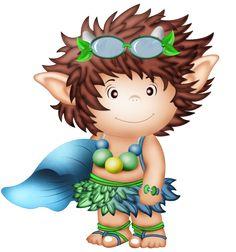 Láminas Infantiles y para Adolescentes Rainbow Rice, Kobold, My Beautiful Friend, Cute Clipart, Painted Clothes, Fantasy Images, Cute Creatures, Cute Illustration, Fantasy World