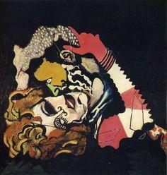 Francis Picabia, Les Amoureux (Après la pluie), 1925, Peinture-émail et huile sur toile, 116 x 115 cm. Musée d'Art moderne de la Ville de Paris