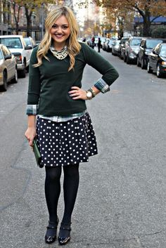 An interesting way to style a skirt.