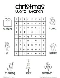 Celebrate Christmas with this fun Christmas Word Search! Christmas Word Search, Christmas Words, Christmas Colors, Christmas Holidays, Christmas Crafts, Xmas, Christmas Crossword, Christmas Worksheets, Fun Worksheets