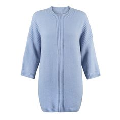 Lola Ribbed Detail Tunic Sweater at Oliver Bonas