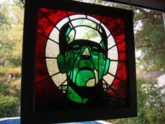 Love this stained glass❤️ Stained Glass Patterns, Stained Glass Art, Stained Glass Windows, Mosaic Glass, Fused Glass, El Canton, Horror Decor, Goth Home, Grunge