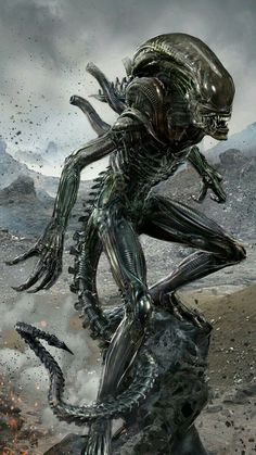10 Strange Facts Behind Alien Films Alien Vs Predator, Predator Alien, Les Aliens, Aliens Movie, Arte Horror, Horror Art, Hr Giger Art, Giger Alien, Science Fiction