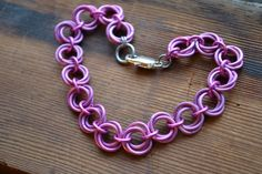 New to AthenasArmoury on Etsy: Eternity Mobius Ball Chain Maille Bracelet to Benefit Susan G. Komen - Pink Warrior Collection (22.00 USD)