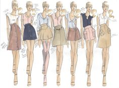fashion thumbnail sketches - Google Search
