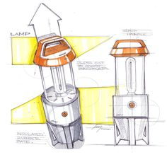 Sketch of a lantern done by designer Spencer Nugent Sketch Design, Design Art, Logo Design, Sketch Inspiration, Design Inspiration, Conceptual Drawing, Background Drawing, Industrial Design Sketch, Sketch A Day