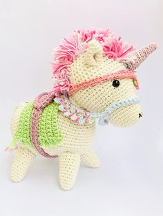 Traditional Unicorn - Rainbow - Cute - Multi-colored - Collectable - Stuffed Toys - Handmade - Ethical - Fantasy - Unicorn Lovers Crochet Penguin, Christmas Bunting, Bunting Garland, Amigurumi Toys, Stuffed Toys, Handmade Toys, Your Child, Dinosaur Stuffed Animal, Unicorn