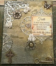 Lin's mixed media art Faith