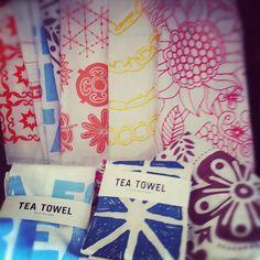 The cutest tea towels in #savannah by #scad grad Kay Wolfersperger #fibers @shopSCAD www.shopscad.com