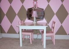 Pink and Brown Shabby Chic Nursery - Design Dazzle