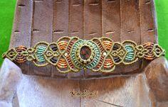Macramè bracelet Shine your light with by MahakashiCreations
